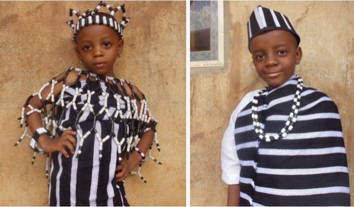 Trẻ em Tiv trong trang phục truyền thống