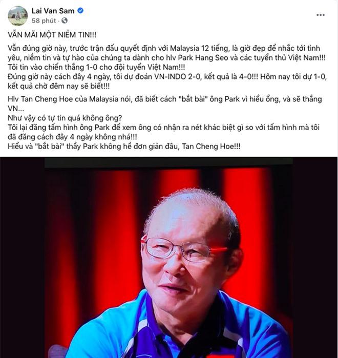 MC Lại Văn Sâm: Tôi tin vào chiến thắng 1-0 cho đội tuyển Việt Nam! - Ảnh 1.