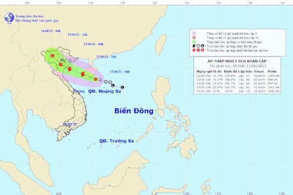Áp thấp trên Biển Đông có thể mạnh lên thành bão