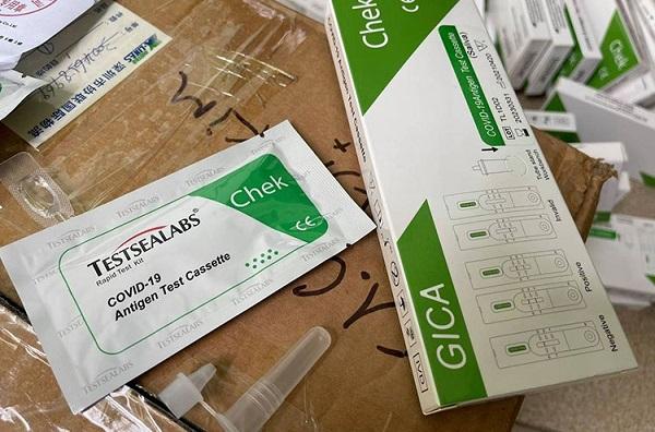 Cần cảnh giác với những bộ kit test nhanh COVID-19 được rao bán trên mạng.