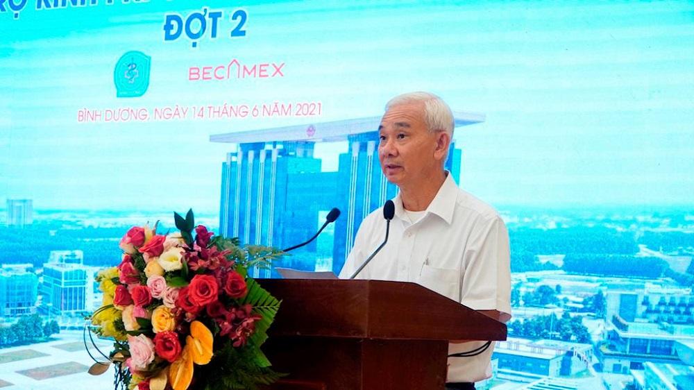 ông Phạm Ngọc Thuận, Tổng Giám đốc Becamex IDC cho biếtcác đơn vị liên doanh tiếp tục đồng hành cùng ngành Y tế Bình Dương