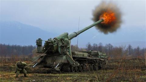 Sieu phao 203mm Nga danh dau trung do