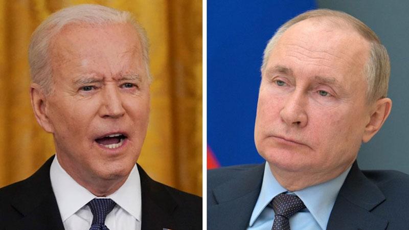 Tổng thống Biden và Tổng thống Putin (phải)