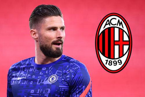 Chuyển nhượng: Milan đạt thỏa thuận với Giroud