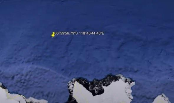 Tọa độ của cấu trúc được cho là căn cứ của người ngoài hành tinh.