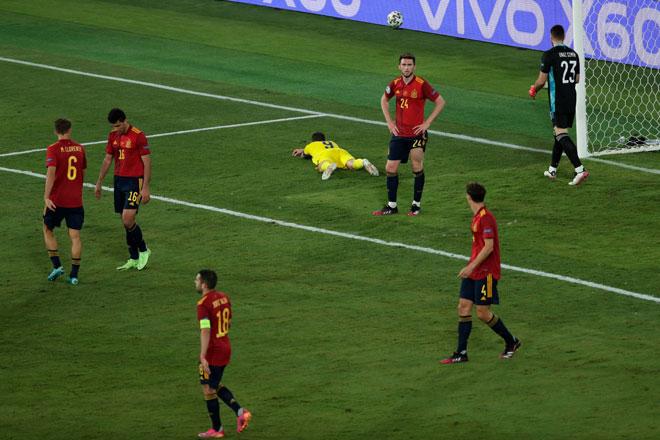 Tây Ban Nha không thể giành chiến thắng trước Thuỵ Điển. Ảnh: Getty.