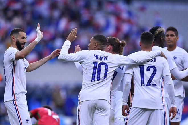 Pháp được dự đoán sẽ gặp vô vàn khó khăn trước tuyển Đức. Ảnh: Getty.