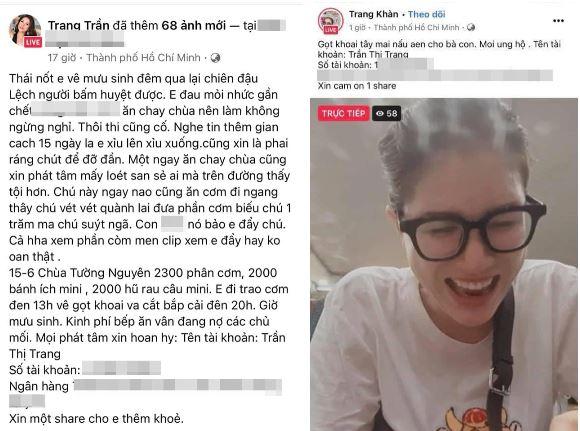 Trang Trần vẫn kêu gọi quyên góp để làm từ thiện giữa lúc công chúng đang chỉ trích nhiều nghệ sĩ làm từ thiện không minh bạch