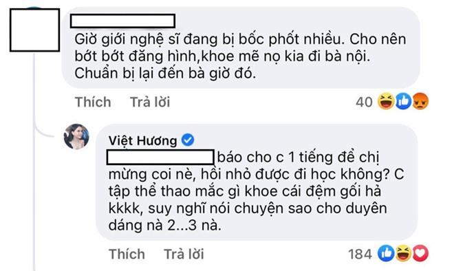 Bị nhắc nhở cẩn thận nếu không muốn dính biến bóc phốt, Việt Hương có màn đáp trả khiến antifan câm nín - Ảnh 3.