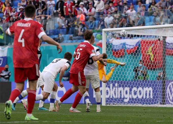 Miranchuk ghi bàn duy nhất trận Nga vs Phần Lan