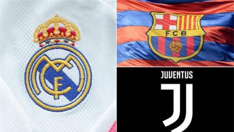Juventus, Barca và Real vẫn dự Champions League mùa tới
