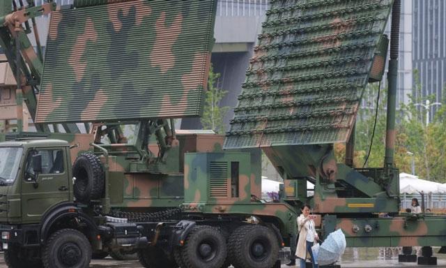 Một loại radar sử dụng công nghệ chống vật thể bay tàng hình của Trung Quốc - ảnh Global Times.