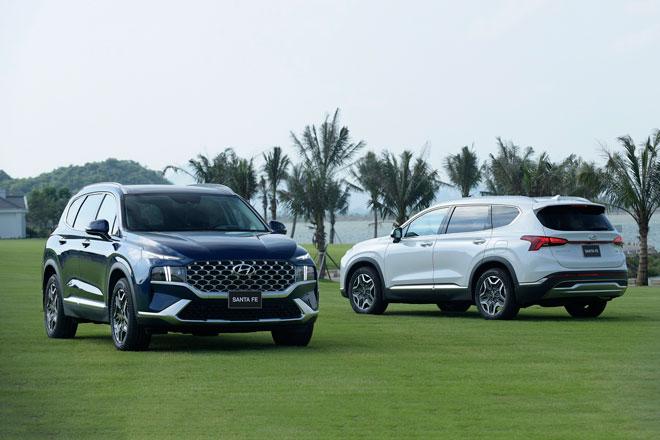 Santa Fe là dòng xe Hyundai bán chạy thứ 2 trong tháng 5/2021. Ảnh: TC Motor.
