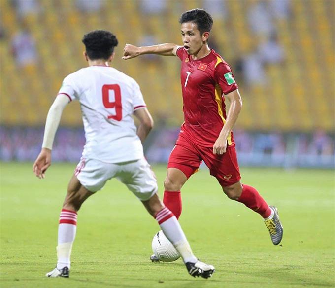 Hồng Duy đã chơi ấn tượng trong những lần ra sân ở 3 trận cuối của vòng loại World Cup 2022 - Ảnh: Minh Anh