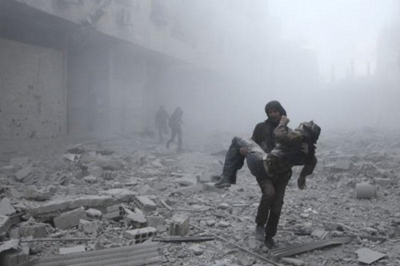 Phiến quân dùng vũ khí hóa học tấn công dân thường ở Syria.