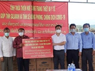 Thừa Thiên Huế hỗ trợ trang thiết bị y tế phòng chống dịch cho tỉnh Salavan và Sê Kông – Lào
