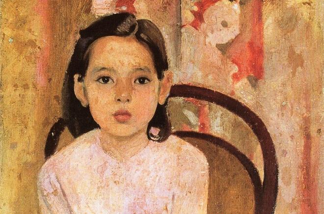 Em Thúy là một bức tranh sơn dầu do họa sĩ Trần Văn Cẩn sáng tác năm 1943. Bức tranh mô tả hình ảnh người cháu gái 8 tuổi của họa sĩ. Đây là tác phẩm xuất sắc của Trần Văn Cẩn, là một trong những đại diện tiêu biểu của tranh chân dung Việt Nam thế kỷ 20. Ảnh: Bảo tàng Mỹ thuật Việt Nam.