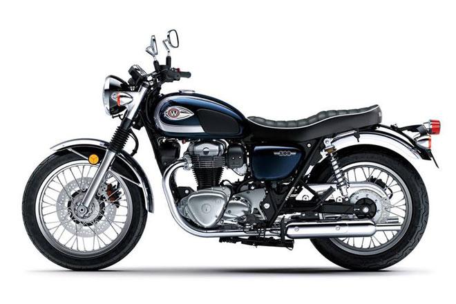 9. Kawasaki W800 Cafe (giá: 9.799 USD).