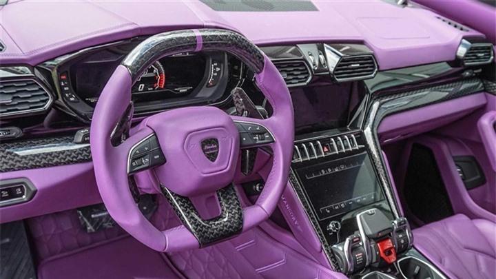 Ngắm nội thất màu tím mộng mơ trên siêu SUV Lamborghini URUS - 1