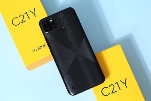 Trên tay Realme C21Y với RAM 4 GB, 3 camera sau, pin 5.000 mAh, giá 3,99 triệu tại Việt Nam