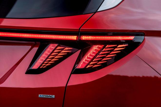 Ký tự ở đuôi của Hyundai Tucson.