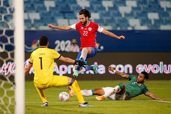 Tân binh Brereton ghi bàn duy nhất cho Chile