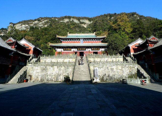 Tử Tiêu Cung là quần thể cung điện rộng lớn được xây dựng từ thời nhà Minh, gồm 182 phòng lớn nhỏ, được hoàng đế Vĩnh Lạc nhà Minh cho xây dựng. Ảnh: Wikipedia.