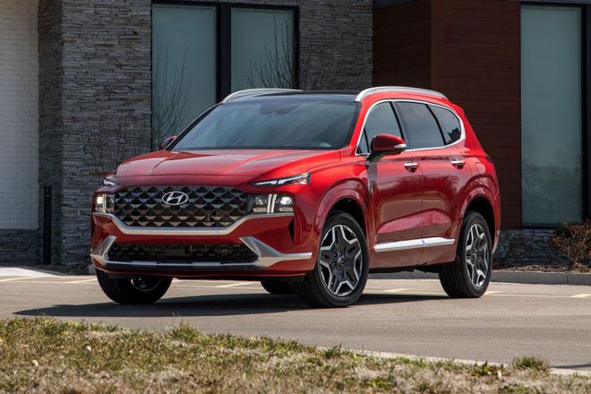 10. Hyundai Santa Fe Hybrid 2021 (giá khởi điểm: 28.185 USD).
