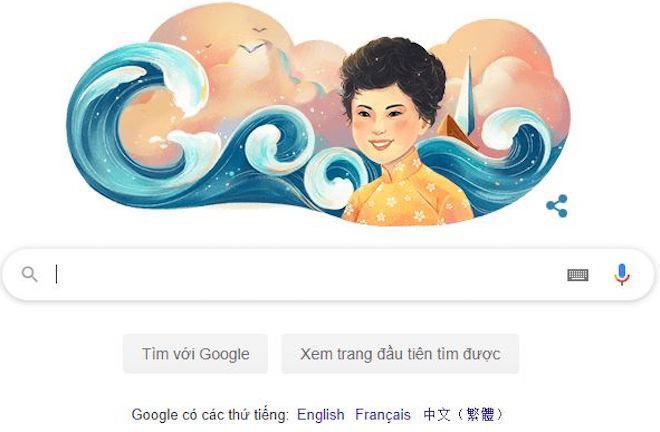 Không chỉ được thừa nhận rộng rãi ở Việt Nam, tên tuổi Xuân Quỳnh còn được thế giới ghi nhận. Vào ngày 6/10/2019, Xuân Quỳnh từng được trang chủ tìm kiếm của Google vinh danh trên biểu tượng Google Doodle. Vào lúc đó, bà chính là người Việt Nam thứ 3 được Google vinh danh sau nhạc sĩ Trịnh Công Sơn và họa sĩ Bùi Xuân Phái. Ảnh: VOV.