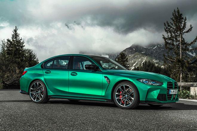 4. BMW M3 2021 (giá khởi điểm: 70.895 USD).
