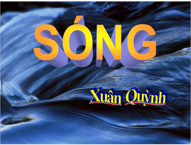 Sóng là bài thơ tiêu biểu bậc nhất trong sự nghiệp sáng tác của nhà thơ Xuân Quỳnh. Tác phẩm này được in trong tập thơ Hoa dọc chiến hào, xuất bản năm 1968. Bài thơ Sóng được đưa vào giảng dạy trong chương trình văn học của Việt Nam suốt 20 năm nay. Ảnh: Hội Nhà văn.