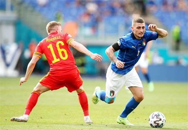 Verratti chơi rất ấn tượng trước Xứ Wales, trong đó có pha kiến tạo giúp Pessina ghi bàn