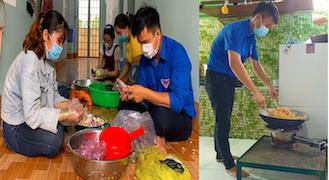 """Bình Phước: Người dân tự tay làm hũ thức ăn khô để """"chia lửa"""" với vùng dịch Bắc Giang"""