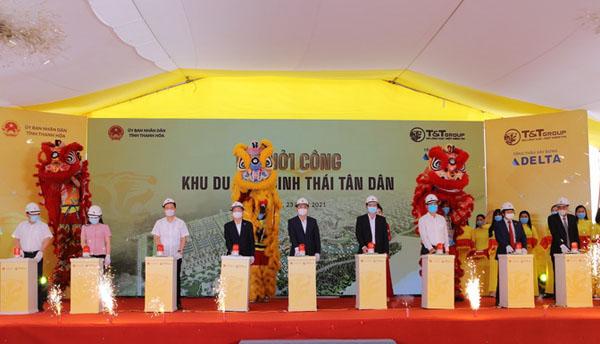 Khởi công xây dựng khu du lịch sinh thái Tân Dân.