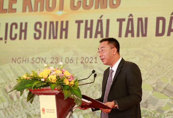 Ông Nguyễn Anh Tuấn - Phó Tổng Giám đốc Tập đoàn T&T Group phát biểu tại buổi lễ.