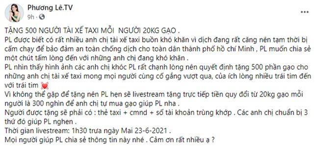 Cái kết bất ngờ trong vụ Hoa hậu Phương Lê bị chỉ trích chuyện tặng gạo cho tài xế taxi - Ảnh 2.
