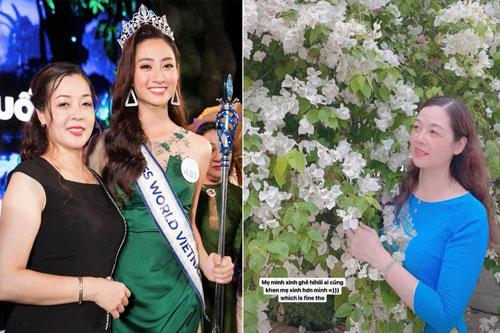 Hoa hậu Lương Thùy Linh hiếm hoi đăng ảnh người mẹ quyền lực cùng chia sẻ: 'Ai cũng khen mẹ xinh hơn mình'