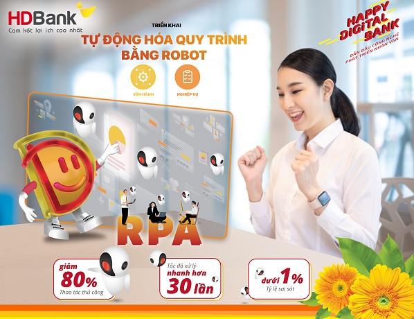 HDBank đẩy mạnh chuyển đổi số với công nghệ tự động hoá RPA