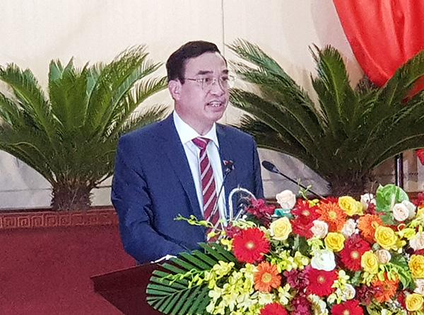 Ông Lê Trung Chinh, Chủ tịch UBND TP Đà Nẵng nhiệm kỳ 2021 - 2026 phát biểu nhận nhiệm vụ