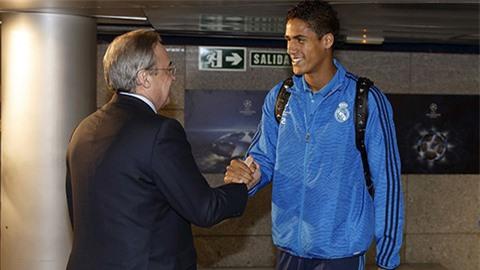 Chủ tịch Perez khẳng định chưa có đề nghị nào dành cho Varane