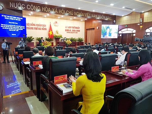 Sáng 25/6, HĐND TP Đà Nẵng khóa X nhieiemj kỳ 2021 - 2026 khai mạc kỳ họp thứ nhất