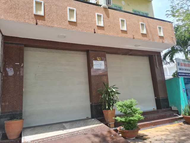 Trụ sở công ty nơi ông N. làm việc đã đóng cửa.