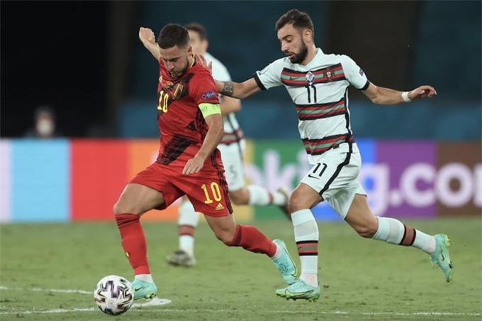 Hazard thi đấu khá hay ở trận Bỉ vs Bồ Đào Nha