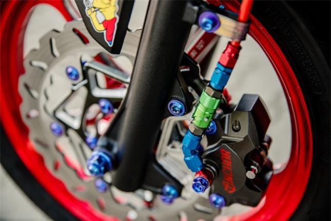Xe tay ga Airblade 2020 độ với ống xả khủng ảnh 5