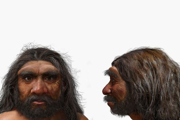 """Hình ảnh mô phỏng loài Homo longi hay """"Người Rồng"""". Ảnh: AFP."""