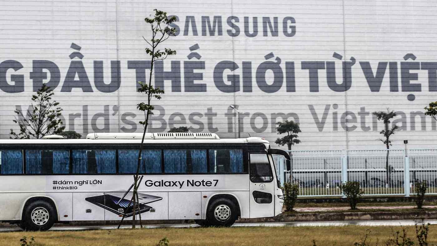 Một nhà máy của Samsung tại Việt Nam: Quốc gia Đông Nam Á sản xuất một nửa số điện thoại thông minh của công ty Hàn Quốc.