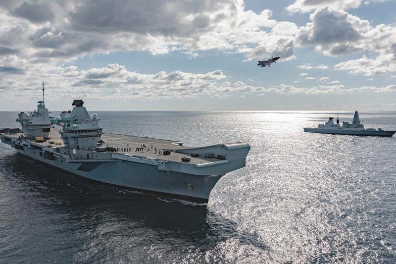 Hàng không mẫu hạm Anh tiếp cận các căn cứ quân sự của Nga ở Syria. Ảnh minh họa.