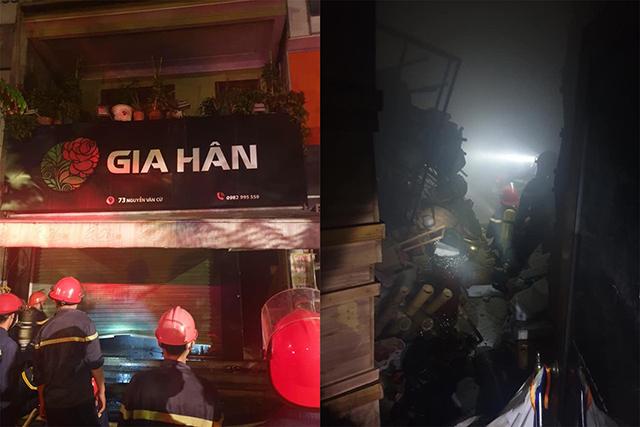 Cháy tiệm hoa trong đêm , 4 người thoát chết trong gang tấc