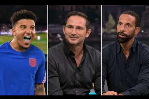 Lampard và Ferdinand khen ngợi Sancho.