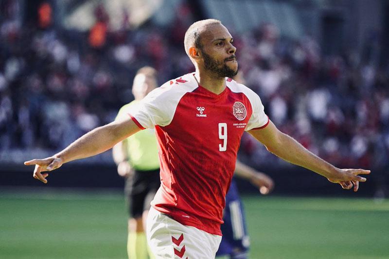 =5. Martin Braithwaite (Đan Mạch, tổng số pha dứt điểm: 14, số bàn thắng: 1).
